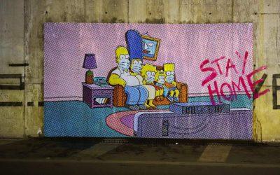 SWEET HOME  la Street Art dell'artista Nello Petrucci  a Pompei  per combattere il Coronavirus